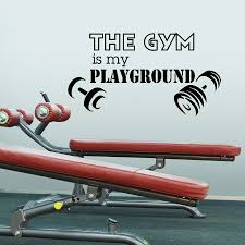 high quality gym design buy cheap lots from modern design gym wall decal vinyl lettering the playground health sports fitness
