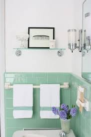green bathroom tile ideas mint green brick styled wall tile ideas for small bathrooms with