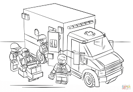 lego ambulance coloring page free printable coloring pages