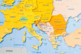 Map Of Europe And Africa by Map Of Europe And Other Neighbor Countries Stock Photo Picture