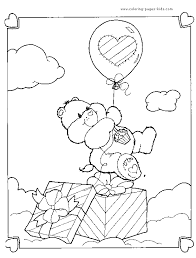 care bears colouring sheet care bear