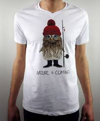 t shirt originaux homme t shirt col v homme chacouette fishing nature is coming