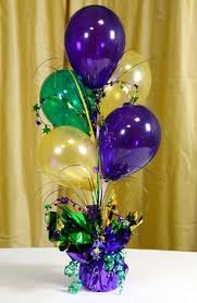 party ideas by mardi gras outlet air filled balloon centerpieces