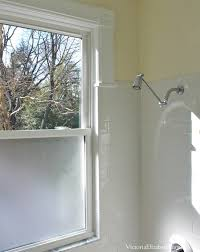 Windows In Bathroom Showers Solution To The Large Window In The Shower Simple Diy Cover