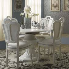 white round extendable dining table and chairs make your dining table white and elegant for your home home decor