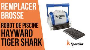 comment remplacer la brosse du robot hayward tiger shark youtube