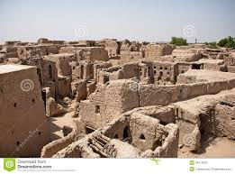 adobe houses historic adobe houses in oman stock photography image 34410302