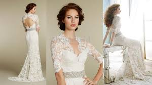 wedding dress lace back and sleeves lace wedding dress with sleeves open back health finance