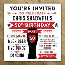party invitation personalised mens birthday party invites by a is for alphabet