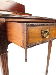 small antique writing desk vintage campaign style mahogany drop