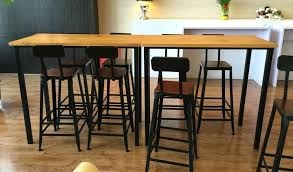 High Bar Table And Stools Narrow Bar Table Popular Of Bar Table With Shop Iron