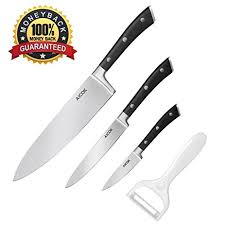 stainless steel kitchen knives set aicok kitchen knife set 4 pieces german high carbon
