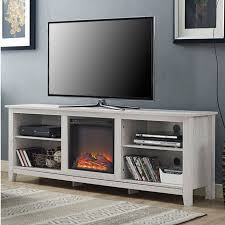 Tv Stand Fireplace Heater by White Wash Wood 70 Inch Tv Stand Fireplace Space Heater Products