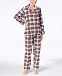 charter club printed cotton flannel pajama set created for