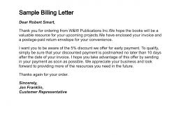 how to write a letter of billing