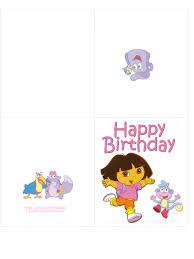 free printable dora the explorer birthday card u2013 birthday card ideas