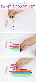 how to ideas paint scrape notecards diy art project idea diy art projects