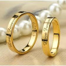 engagement rings for couples personalized 18k gold filled tungsten lover rings for couples