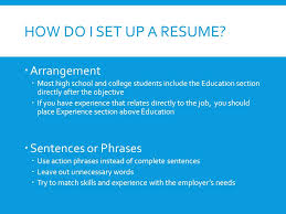 Set Up A Resume Resume Writing Creating An Effective Resume What Is A Resume