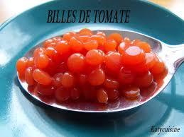 cuisine moleculaire recette billes de tomate péchés très très gourmands