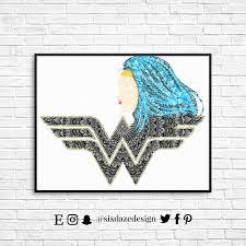 wonder woman wonder woman art print mandala art print
