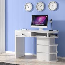 white high gloss desk computer desk in white high gloss with 4 drawers