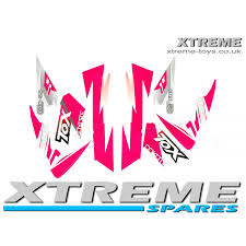 motocross bike parts uk mini dirt bike crx 50 tox sticker kit decals transfers in pink