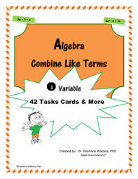 algebra combining like terms simplifying expressions worksheets