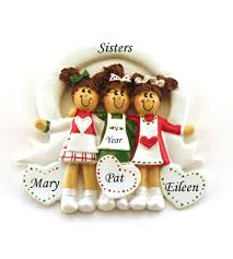 3 friends and personalized ornament