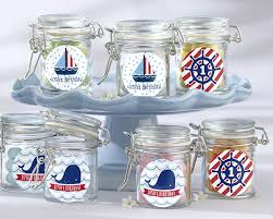 jar party favors personalized glass favor jars nautical birthday party