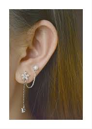 post type earrings flower pearl piercing earring surgical stainless steel