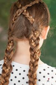 plait at back of head hairstyle back to school hairstyles criss cross braids tutorial hair romance