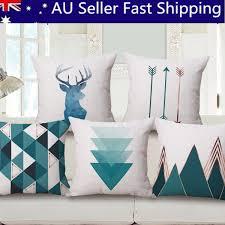 simple style cotton linen sofa throw pillow case cushion cover car