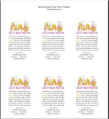 easter jelly bean prayer poem with lorelai