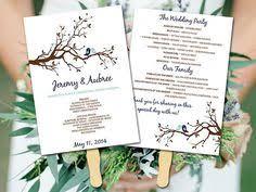 Diy Wedding Ceremony Program Fans Rustic Diy Fan Wedding Program Wedding Ceremony Program Fan