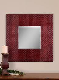 leather picture frames mirror has a 1 1 4 bevel in a faux leather frame that features an