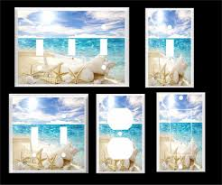 beach light switch covers white sea shell starfish on the beach ocean light switch cover plate