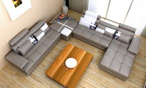 home decor sofa set furniture modern grey and white leather sectional tufted sofa set