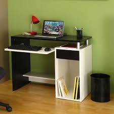 bureau noir et blanc janis bureau contemporain mélaminé noir et blanc l 99 cm