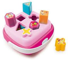 Smoby Nafukovací Křeslo S Didaktickým Smoby Didaktický Košík Cotoons 110411 Růžový Hračky Pro Děti Smoby