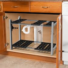 easy home expandable under sink shelf vremi expandable under sink organizer bathroom kitchen or pantry