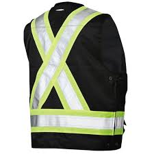 work king s313 black non ansi surveyor u0027s safety vest