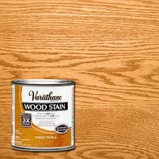 interior wood stain colors home depot varathane 1 2 pt honey maple wood stain 267141 the home depot