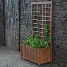 outdoor 75 garden trellis wooden planters toulouse planter with