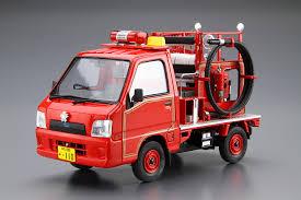 subaru sambar truck subaru tt2 sambar the fire engine u002708 aoshima 05142