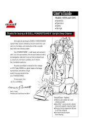 bissell powersteamer 1690 user manual 14 pages also for