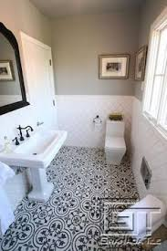 Subway Tile Bathroom Ideas by 10 Beyond Stylish Bathrooms With Patterned Encaustic Tile White