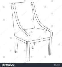 chair icon classic chair outline contour stock vector 120882109