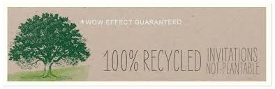 recycled paper wedding invitations green wedding announcements
