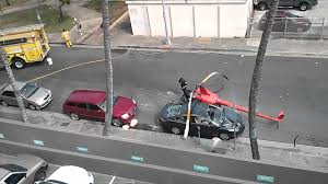 helicopter crash aftermath in downtown honolulu hawaii raw video